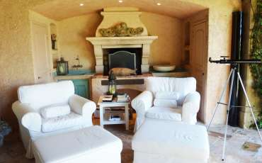 Luxury Saint Tropez Villa Julie fireplace