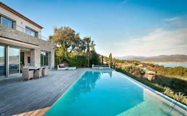 Luxury Saint Tropez Villa Mary pool view