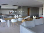Luxury Villa Rental_Villa Azur_ kitchen and living